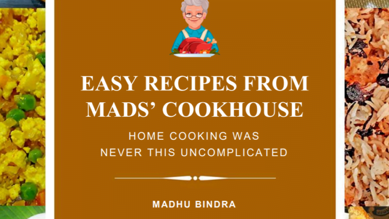 Ebook Review: Easy Recipes from Mads' Cookhouse by Madhu Bindra